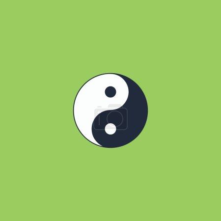 Illustration pour Ying yang symbole d'harmonie et d'équilibre. Icône vectorielle colorée. Pictogramme d'illustration moderne couleur rétro simple. Symbole de concept de collection pour projet infographique et logo - image libre de droit