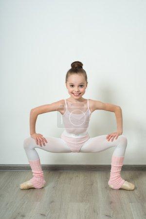 A little adorable young ballerina