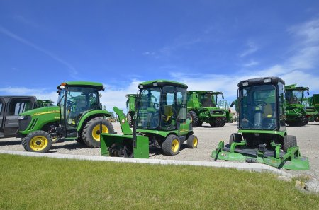 John Deere snowblowers and ringing lawn mowers