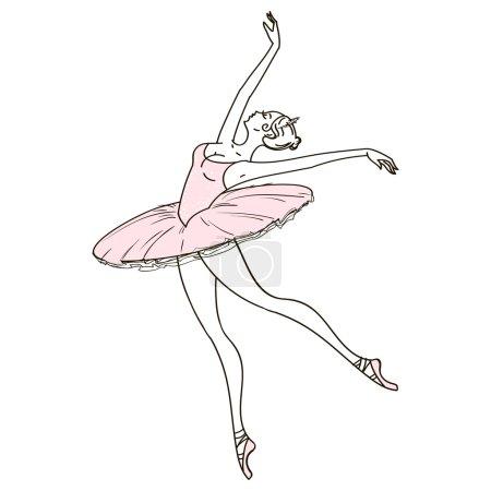 Beautiful hand drawn ballerina