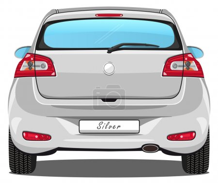 Car - Back view - Silver