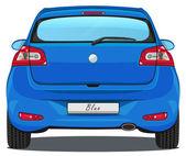 Car - Back view - Blue