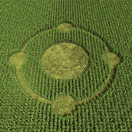 Photo for 3d Illustration of a green Crop Circle - Royalty Free Image