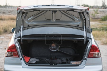 Open car trunk