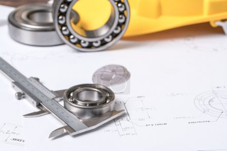 Bearing, calipers and mechanical diagrams