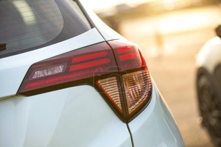 Back lights of a car