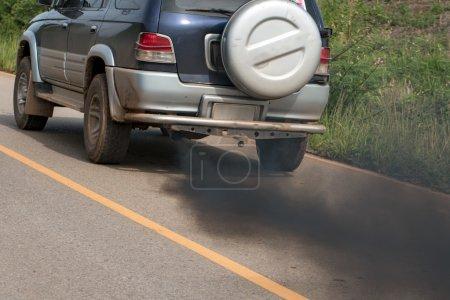 Car black smoke