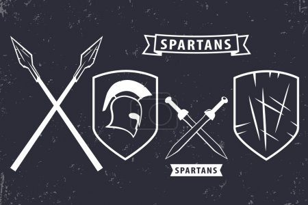 Spartans Elements for emblem logo