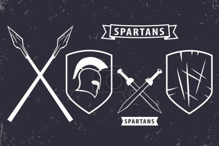 Элементы спартанцев логотип эмблема