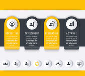 Staff HR employee development timeline infographics elements icons