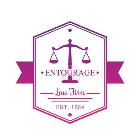 Law Firm vintage logo, badge on white
