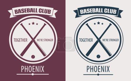 Baseball Club Phoenix emblem vector illustration