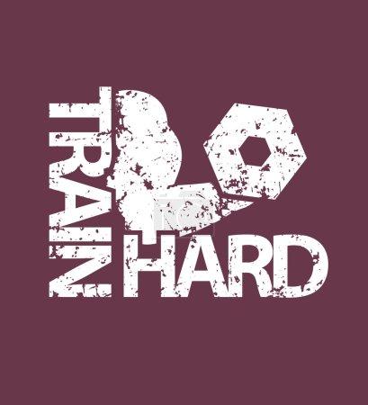 Train hard emblem