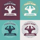 Gym equipment emblem