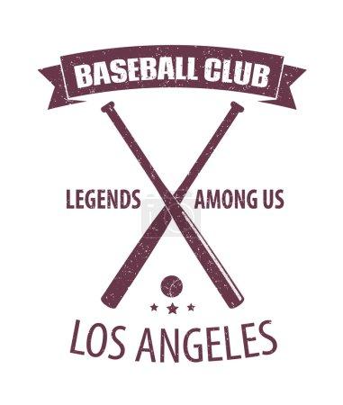 Baseball Club LA scratched emblem
