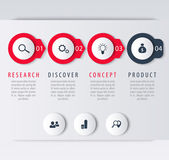Product development infographic elements step labels icons