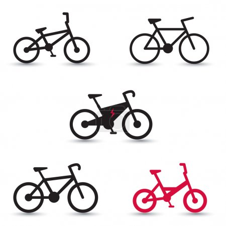 Electric Bike and other bikes icons