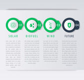 Alternative energy sources infographic elements timeline step labels icons