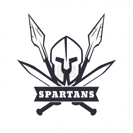 Spartans emblem with helmet crossed