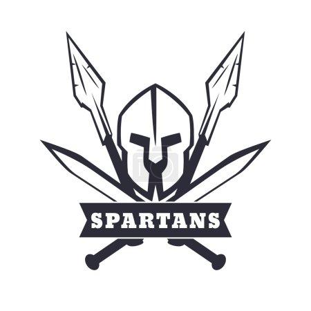 Спартанцы герб со шлемом пересек