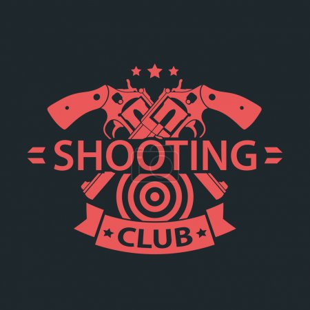 Shooting Club, emblem with crossed guns