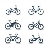 Bicycle cycling bike electric bike fat-bike icons vector illustration eps10