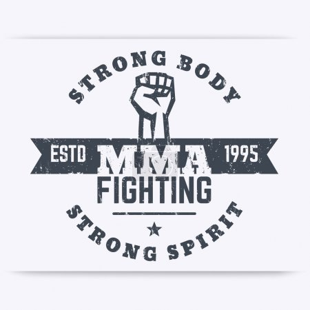 MMA Fighting logo template, t-shirt print