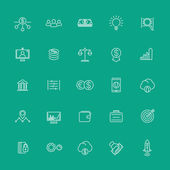 Venture capital investments startup hedge fund line white icons vector illustration