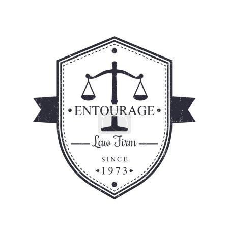 Law Firm vintage logo, emblem, Law office sign