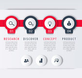 Product development infographic elements 1 2 3 4 steps labels