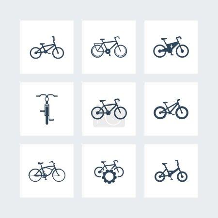 bicycle, cycling, bike, electric bike, fat-bike simple icons