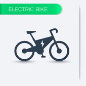 Electric bike icon vector illustration