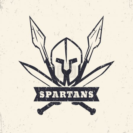 Spartans grunge logo emblem with