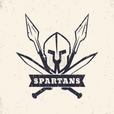 Спартанцы логотип гранж с