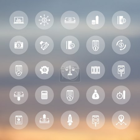 25 finance, investing icons, venture capital, shares, stocks, investor, funds, investment, income transparent icons set, vector illustration
