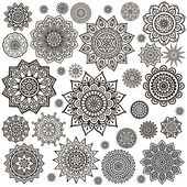 Mandala Round Ornament Pattern Vintage decorative elements Hand drawn background Islam Arabic Indian ottoman motifs
