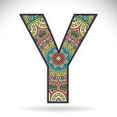 Vintage alphabet letter Y
