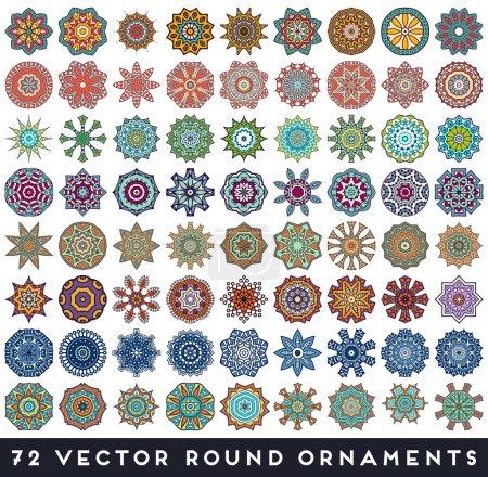 Illustration pour Motif indien sans couture, Éléments décoratifs vintage, Fond dessiné à la main, Islam, Arabe, Indien, motifs ottoman . - image libre de droit