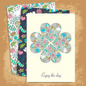 Set of floral cards for life events
