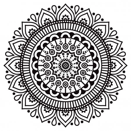 Round ornament in ethnic style