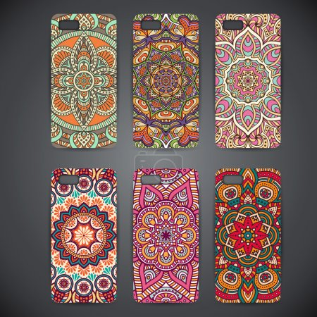 Phone case, colorful floral pattern.
