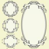 Ribbon frame and border ornaments vector set 05  The objects can be ungroup and apply to use by yourself  You guys can check my Ribbon frame and border ornaments other set in my Portfolio