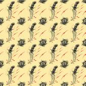 Tattoo seamless Pattern in old school style 01