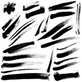 Brush Strokes vector set 03
