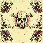 Skull and Rose Frames