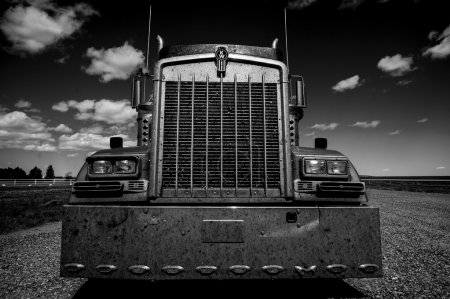 Truck black and white