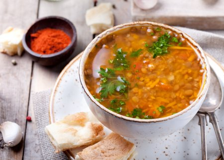 Lentil soup with smoked paprika