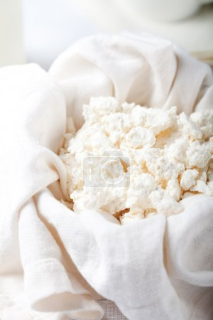 Cottage cheese and milk,