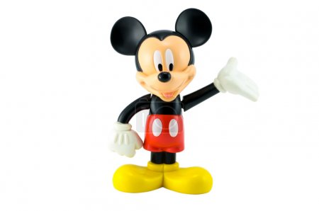 Mickey Mouse isolated on white