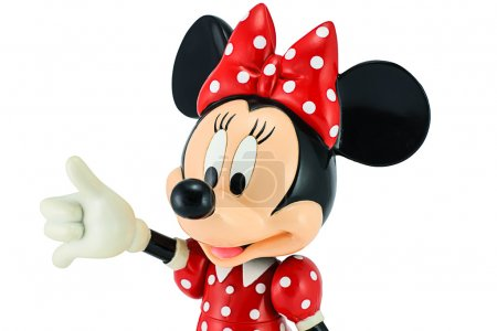 Minnie mouse from Disney character. This character from Mickey and Minnie Mouse animation.
